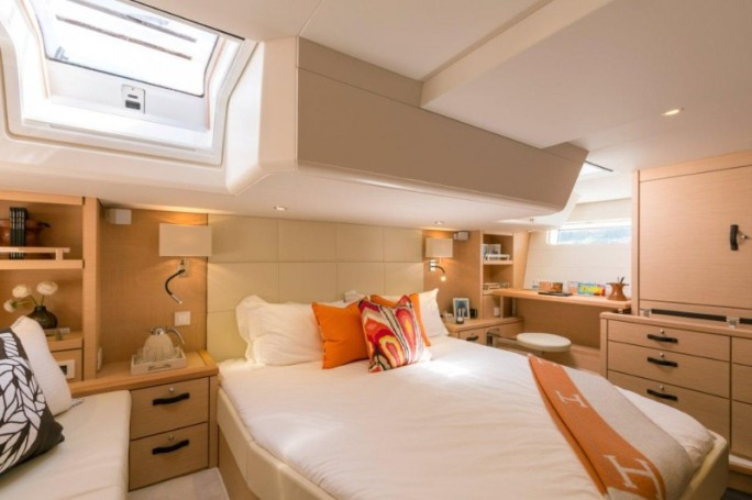 The aft owner's cabin aboard the Jeanneau 64 rivals any found on much larger super-yachts