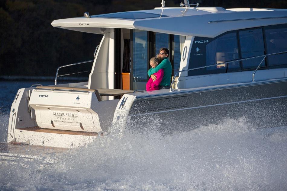 Fenn family onboard the Jeanneau NC14 in Annapolis MD