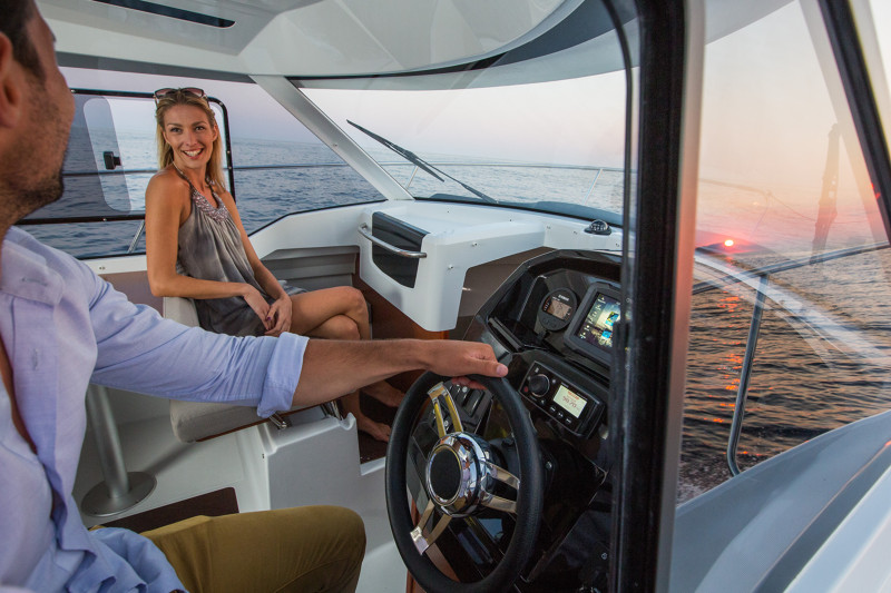 The Merry Fisher 795 lets you drive in style and escape the elements with 360 degree visbility